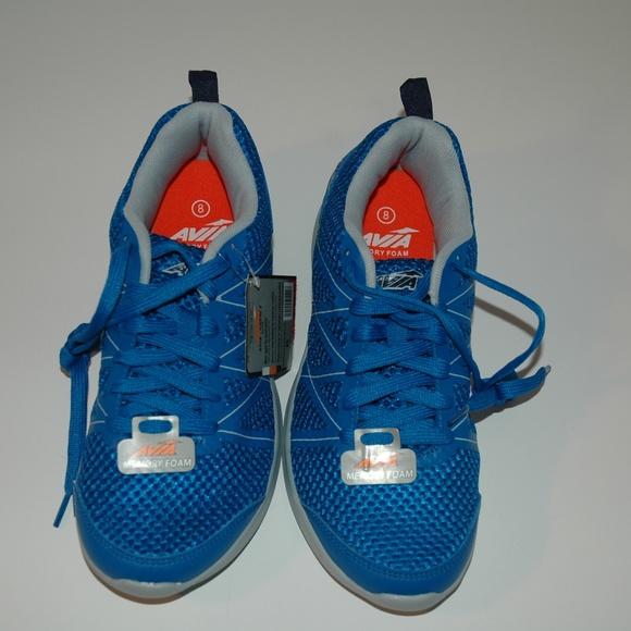 7a8ab93e3be6 Avia mens running shoes memory foam capri 2 blue